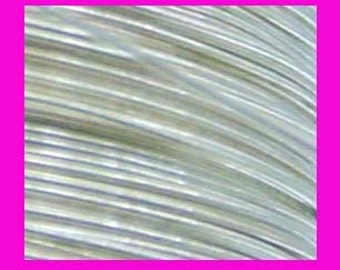 18 gauge half hard 925 sterling silver Wire solid round beading wrapping metal wire in coil 2ft