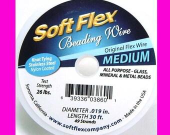 Medium Soft Flex  stainless steel nylon coated Flex Beading Wire .019 in 30 ft Fine