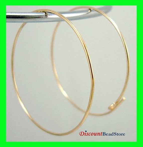 30mm 14k Yellow Gold Filled Round Circle beading hoop Earring Wire Earwire component findings  GE10