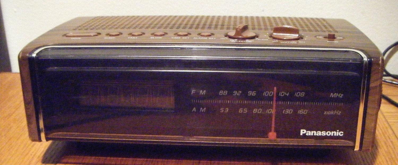 vintage panasonic alarm clock radio model rc 75. Black Bedroom Furniture Sets. Home Design Ideas