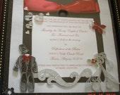 Custom Made Wedding Announcment/Invitation Keepsake