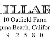 the TRADITIONAL stamp - custom address rubber stamp