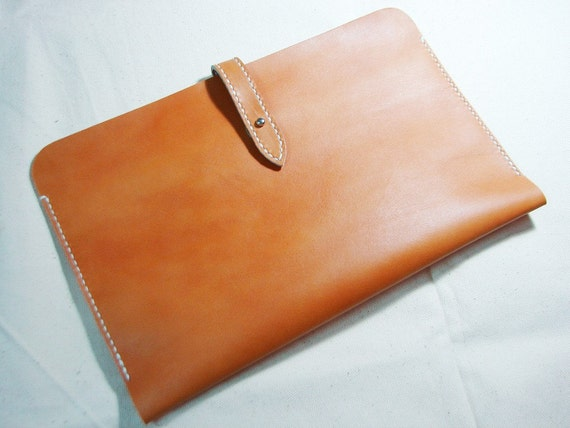 Leathinity - Hand Stitched Tan Color Leather Sleeve for 11'' MacBook Air