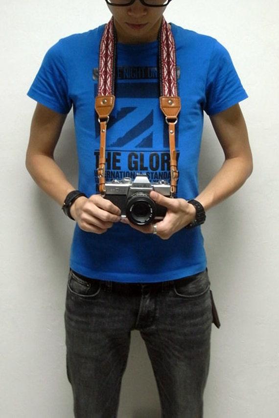 Leathinity - Leather Neck Camera Strap (Adjustable Length)