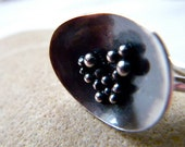 Rock Pool Ring, sterling silver, by Cari-Jane Hakes Hybrid Handmade