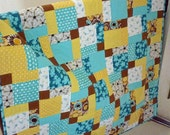 PDF Quilt Pattern - Charm Pack Quilt Pattern - Baby Toddler or Throw sizes - Sea Breeze