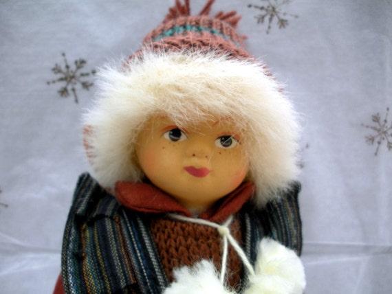 Vintage Doll - Young Ski Girl