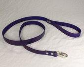 Purple Leather Leash