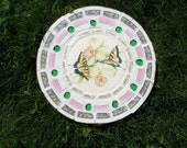 Butterfly Orchid Vintage China Mosaic Stepping Stone