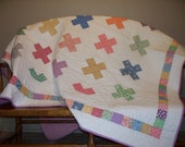 Bright and Cheery 1930 Reproduction  Quilt   Made to Order