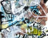 ORIGINAL FINE ART ABSTRACT MODERN PAINTING