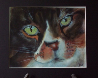 Cat's Eyes - Print of original Oil Painting, cats