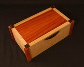 Large Keepsake Box- Cherry, Bloodwood, and Wenge with Brass hinges