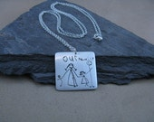 Custom Child's Artwork Preserved in Fine Silver...Made to Order
