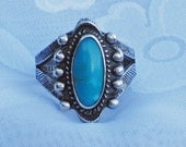 1940s American Indian Turquoise ring ...
