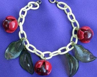 Bakelite Cherry Bracelet...*