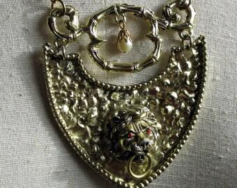 Large 1960s Lion Pendant