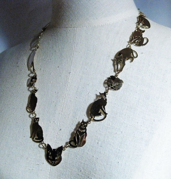 Vintage Wild Byrde Cat Necklace