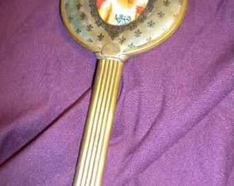 X Lovely Antique Victorian Hand Mirror (FF126)