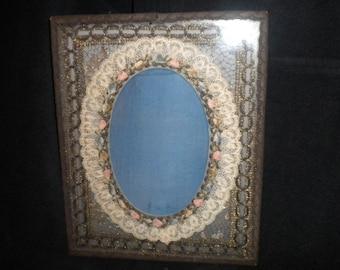 x Ribbonwork Victorian Oval Frame (FF140)