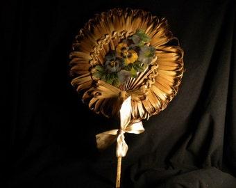 x Vintage Palm Fan (FF116)