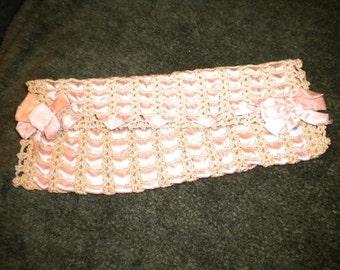 Jewelry Pocket vintage with Pink Ribbon (FFs1237)