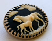 Horse Brooch - Mare and Foal