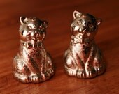 Bow Tie Cats Salt and Pepper Shakers