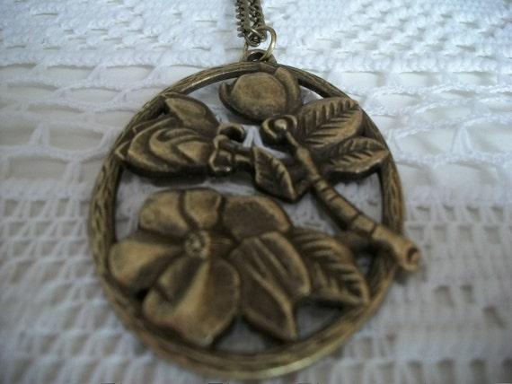 SALE Flower Pendant on Chain