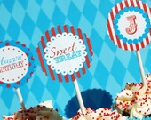 Vintage Carnival Printable Party Circles