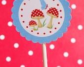 Woodland Magic - Gnomes and Toadstools - Printable Circles