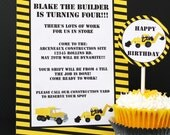 Dig It Construction Party Printable Invitation