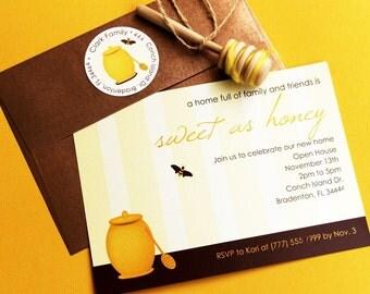 Sweet as Honey - Bumble Bee Printable Editable Invitation