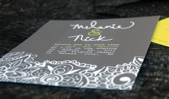 SAMPLE - Modern Wedding Invitation