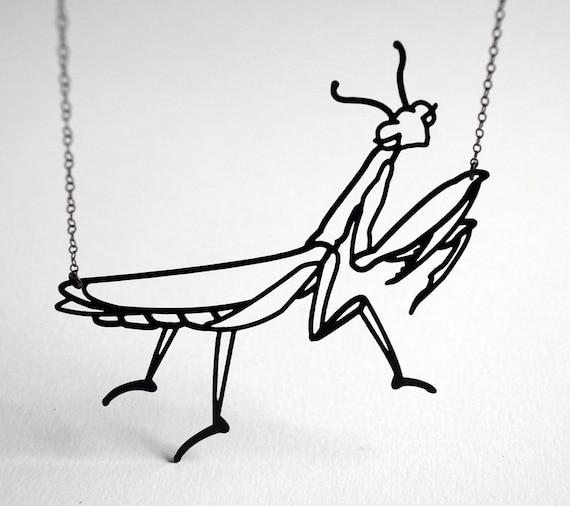 Praying Mantis Necklace