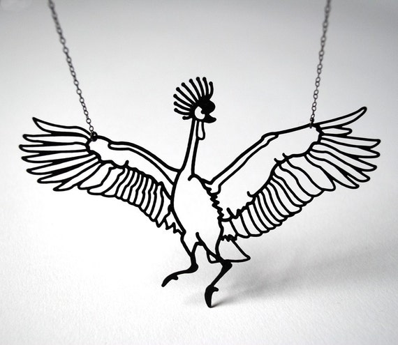 NEW West African Crane Necklace