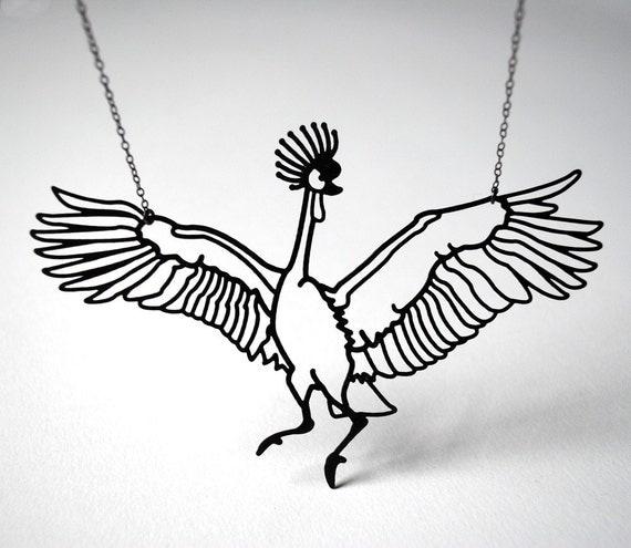 West African Crane Necklace