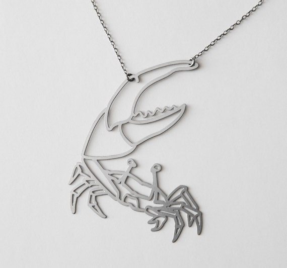 Stainless Fiddler Crab Necklace