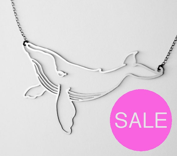 Stainless Humpback Whale Necklace