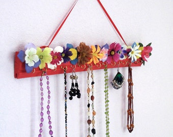 Earring & Necklace organizer - Flower Garden