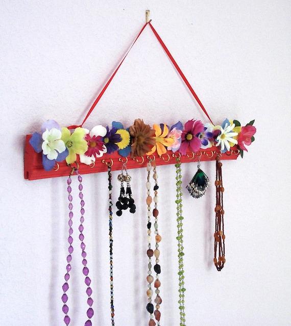 Earring & Necklace organizer - Flower Garden