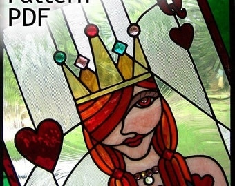 PATTERN for Queen of Hearts Stained Glass