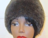 Smokey Gray Faux Fur Bonnet Hat