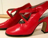 Lipstick Red Jazz Leather Shoes