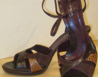 Via Spiga Brown Leather Heels  Sz 10m