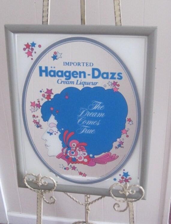 Vintage Haagen Dazs Cream Liqueur Mirror - Stunning
