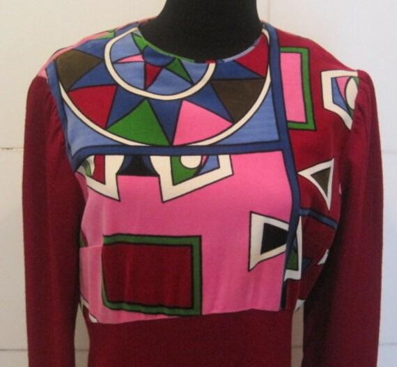 Vintage Hippie Dress. Psychedelic Vintage Maxi Dress - GROOVEY Sz Med 6-8