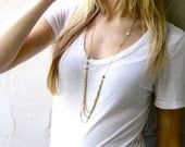Long Gold Vintage Layered Pheobe Necklace