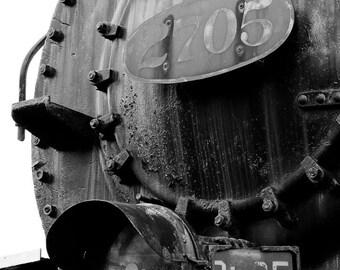 Railroad Art, Steam Engine, Black and White Fine Art Photography, Baltimore Art