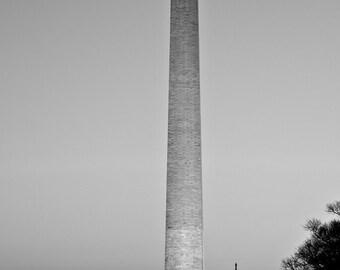 Washington DC Art, Capitol, Washington Monument, Black and White Fine Art Photography, Washington DC skyline, Wahsington dc print